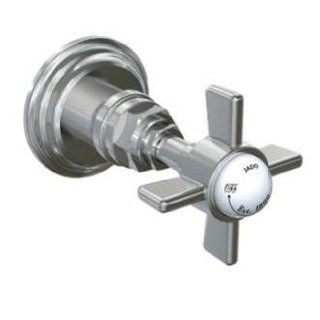 Jado 845020.144 Savina 1/2 Inch Wall Valve with Cross Handle, Brushed Nickel   Shower Installation Kits