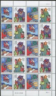 CHRISTMAS FAMILY SCENES ~ CHRISTMAS CARD POSTAGE ~ Block of 20 x 32� US Postage Stamps (Scott #3108 11)