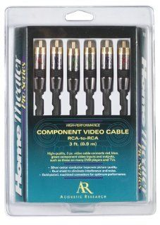 Acoustic Research HT191 Component Video 3 Piece with RCA Male Ends (6 Feet) (Discontinued by Manufacturer) Electronics