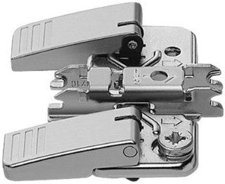 Blum 174H7100I Nickel Cabinet Hinge Accessories CLIP Top One Piece INSERTA Self Anchoring Cam Mounting Plate with Zero Clearance   Cabinet And Furniture Hinges