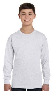Hanes Youth 6 oz. Tagless Long Sleeve T Shirt Clothing
