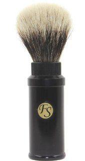 Frank Shaving Travel Finest/ Best Badger Bristle Shaving Brush Black with Twist Metal Cannister Health & Personal Care