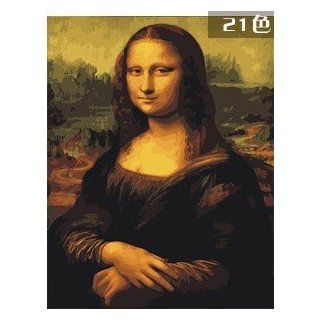 """W&Hstore 13406 DIY Paint By Number Kit, Gioconda, 20""""x16"""""""