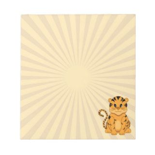 Cute Cartoon Tiger Cub Small Notepads