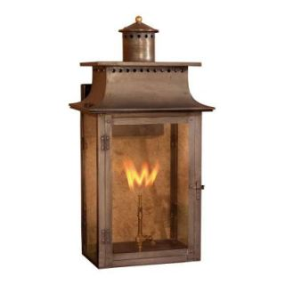 Titan Lighting Maryville 27 in. Outdoor Washed Pewter Gas Wall Lantern TN 7902