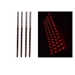 Big Sales Your Car / Bike Beauty Tools 4 pieces of 30cm Red Waterproof Flexible LED Light Lamp Strip, Self  adhesive on back, Easy to install  Makeup Tool Sets And Kits  Beauty