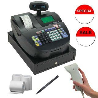 Royal Alpha 1000ML 200 Department 5000 Price Heavy Duty Cash Register + 57mm Bond Cash Register Roll Paper   3 Pack + Counterfeit Detector Pen + Accessory Kit : Electronic Cash Registers : Electronics