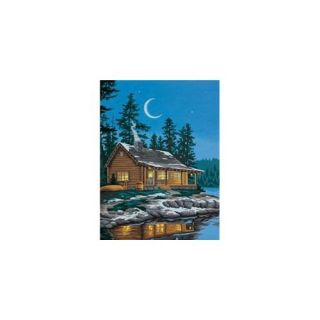 Dimensions 398978 Learn To Paint Paint By Number Kit 9 inch x 12 inch  Lakeside Cabin: Crafts