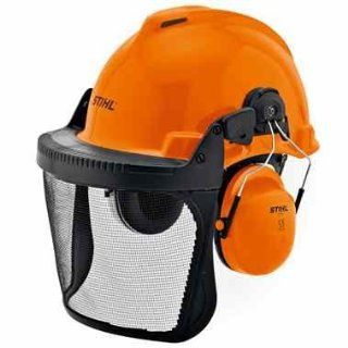 Stihl Arborist Birch Orange Hard Hat Helmet Ear Defenders & Visor 00008842401   Hardhats
