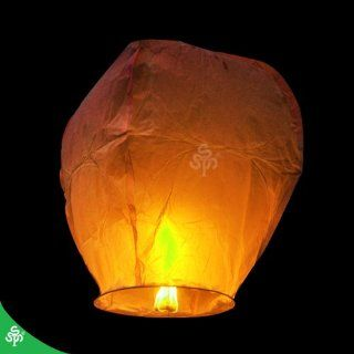TSSS 200pcs Safe Chinese Sky Lanterns Fly Fire Lanterns Wish Party Wedding Birthday Wishing,Celebrate 4 July Wishing,write down your wish on lanterns and let them fly  Orange: Home Improvement