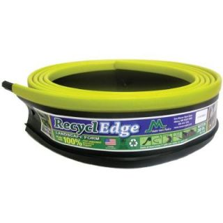 Master Mark RecyclEdge 20 ft. Recycled Plastic Landscape Lawn Edging Yellow with Stakes DISCONTINUED 55220