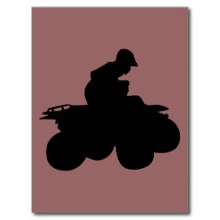 ATV Four Wheeler   4X4 All Terrain Vehicle Post Card