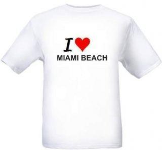 I LOVE MIAMI BEACH   City series   White T shirt Clothing