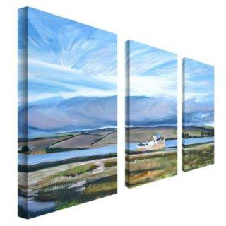 Trademark Fine Art 12 in. x 24 in. Inverness Sky 3 Piece Canvas Art Set CP029 set