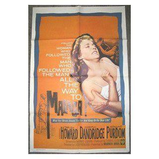 MALAGA / ORIGINAL U.S. 1 SHEET MOVIE POSTER ( DOROTHY DANDRIDGE ) DOROTHY DANDRIDGE Entertainment Collectibles