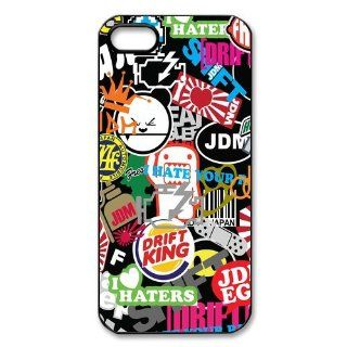 Personalized JDM Sticker Bomb Hard Case for Apple iphone 5/5s case AA307: Cell Phones & Accessories