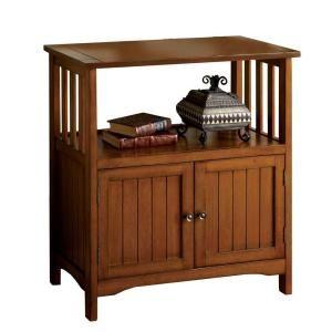Home Decorators Collection Bridgewater Oak Double Door Telephone Stand CM AC279