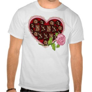 Valentine Candy Heart Pink Rose Tee Shirts