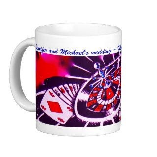 Casino Theme Purple Passion Souvenir Coffee Mugs