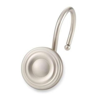 Elegant Home Fashions Circle Shower Hooks in Brushed Nickel (12 Pack) HDHK104