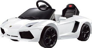 LICENSED LAMBORGHINI AVENTADOR Ride on Toy Battery Operated Car for Kids Remote Control with Music and Light Toys & Games