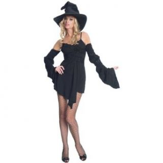 Black Witch Costume   Small/Medium   Dress Size 4 8: Clothing