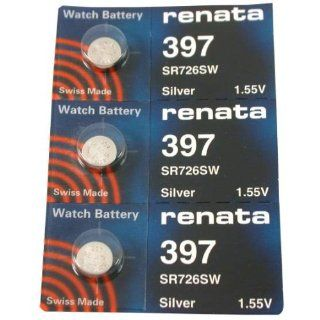 #397 Renata Watch Batteries 3Pcs Watches