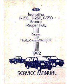 1992 Ford Truck F150 F350 Econoline Shop Service Repair Manual Book Engine OEM Automotive
