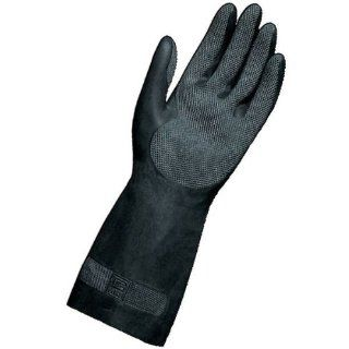 """MAPA Technic NS 401 Neoprene and Natural Latex Glove, Chemical Resistant, 0.022"""" Thickness, 12 1/2"""" Length, Size 9, Black (Bag of 12 Pairs) Chemical Resistant Safety Gloves Industrial & Scientific"""