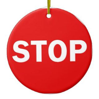 Stop Sign Christmas Tree Ornament