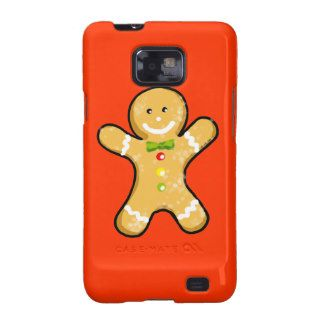 Cute gingerbread man cookie samsung galaxy cover