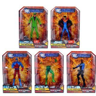 DC UNIVERSE CLASSICS WAVE 5 (~COMPLETE SET OF 5~) METALLO SERIES THE RIDDLER, ATOM, AMAZO, BLACK LIGHTNING, ERADICATOR Toys & Games