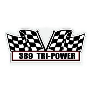 Air Cleaner Engine Decal   389 Tri Power for Pontiac GTO Grand Prix Classic Muscle Car   5x2.25 inch: Automotive