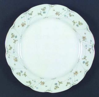 Home Beautiful Briarwood Dinner Plate, Fine China Dinnerware   Small Blue Flower