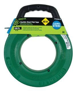 Greenlee FTFS439 50 50 Feet x 3/16 Inch Flexible Steel Fish Tape   Electrical Fish Tape