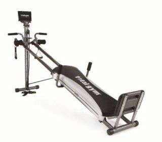 Total Gym 1400 Deluxe Home Fitness Exercise Machine Equipment with Workout DVD  Exercise Weights  Sports & Outdoors
