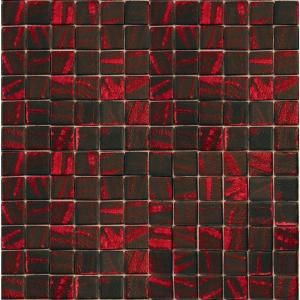 EPOCH Metalz Manganese 1014 Mosaic Recycled Glass 12 in. x 12 in. Mesh Mounted Floor & Wall Tile (5 sq. ft.) MANGANESE 1014