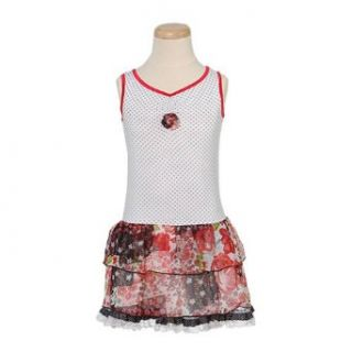 Lipstik Toddler Girls Cute White Polka Dot Floral Rosette Dress 2T : Playwear Dresses : Baby
