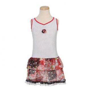 Lipstik Toddler Girls Cute White Polka Dot Floral Rosette Dress 2T : Playwear Dresses : Baby