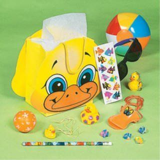 8 Filled Rubber Duck Ducky Duckie Birthday Party Favor Bags Toys & Games