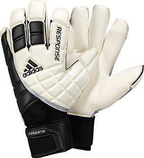 Adidas Response Fingertip Goalie Glove, White/Black/Metallic Silver, 7   Soccer Goalie Gloves  Sports & Outdoors