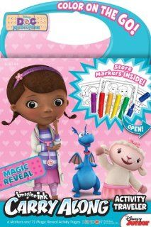 Bendon Doc McStuffins Carry Along Activity Traveler Book with Markers: Toys & Games