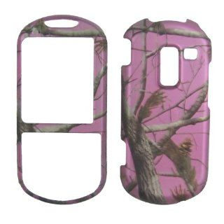 Pink Real Tree Camo Rubberized Samsung R455c Sch r455c Protector Phone Cover: Cell Phones & Accessories