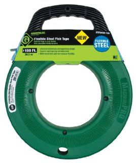 Greenlee FTFS439 100 100 Feet x 3/16 Inch Flexible Steel Fish Tape   Electrical Fish Tape