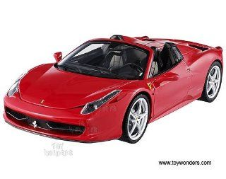 W1177/9964 Mattel Hot Wheels Elite   Ferrari 458 Spider Hard Top (118, Red) W1177/9964 Diecast Car Model Auto Vehicle Automobile Metal Iron Toy Toys & Games