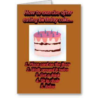 Happy Birthday cake funny humorous Birthday wishes Card