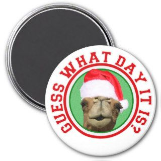 Hump Day Camel Guess What Day It Is Christmas Fridge Magnets