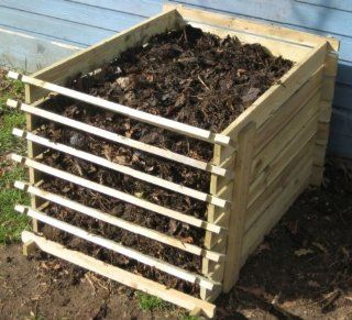 Easy Load Wooden Compost Bin   Small   449 Litres : Outdoor Composting Bins : Patio, Lawn & Garden