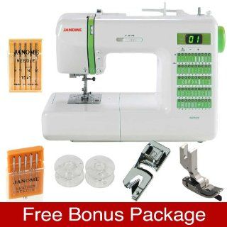 Janome DC2012 PLUS FREE BONUS VALUE Package Including Hemmer Sewing Foot, Ditch Quilting Sewing Foot, and Extra Needle Sets and Bobbin Set