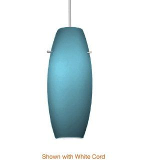 WAC Lighting HTK F4 451BL/BK Bongo Line Voltage H  Track Pendant with Blue Shade, Black Socket and Track Fitting   Track Lighting Heads